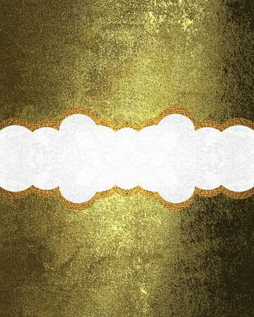 ad space: Decorative nameplate on gold texture. Template for design. copy space for ad brochure or announcement invitation