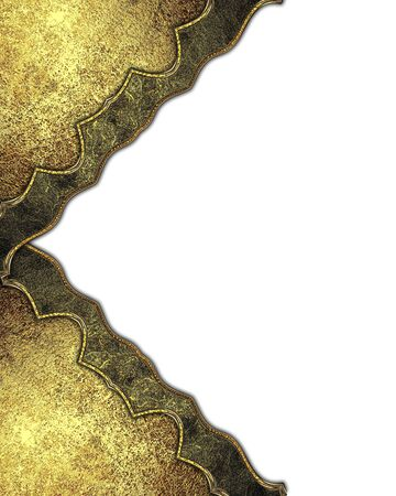 decoration design: Golden decoration. Template for design. copy space for ad brochure or announcement invitation, abstract background. Stock Photo