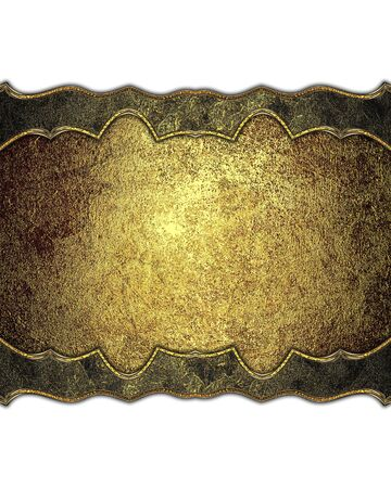 ad space: Golden decoration. Template for design. copy space for ad brochure or announcement invitation, abstract background. Stock Photo