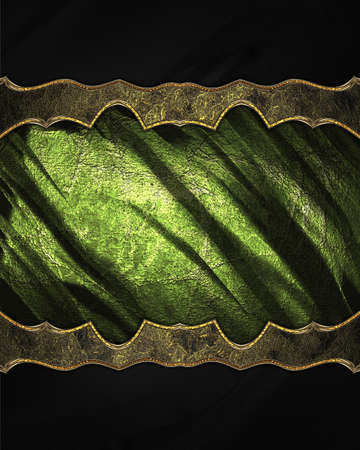 decoration design: Green decoration with black texture. Template for design. copy space for ad brochure or announcement invitation, abstract background.