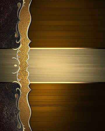 Abstract brown background with a pattern and gold nameplate. Template for design. copy space for ad brochure or announcement invitation