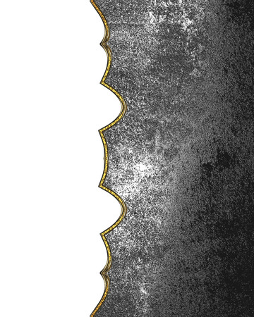Grunge metal background with sidecut. Template for design. copy space for ad brochure or announcement invitation Stock Photo