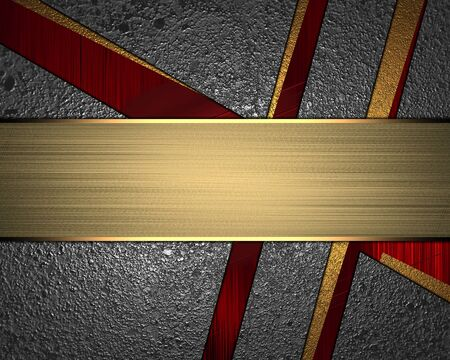 slits: Texture of metal with slits and the sign for text. Template for design. copy space for ad brochure or announcement invitation