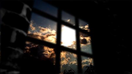 El concepto de privación de libertad. Detrás del Muro una hermosa vida. Foto de archivo - 75477955