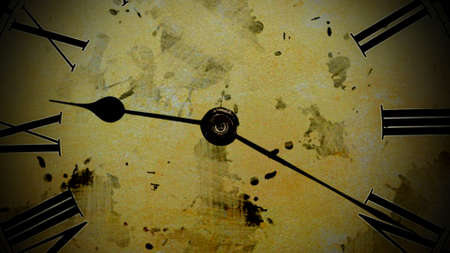 time lapse: Watch quickly go. Time Lapse Clock. Old watch.