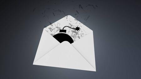 menace: E-mail virus. attack via the global network.. Stock Photo