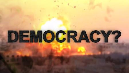 The war on terrorism. What is terrorism. Ways of democracy