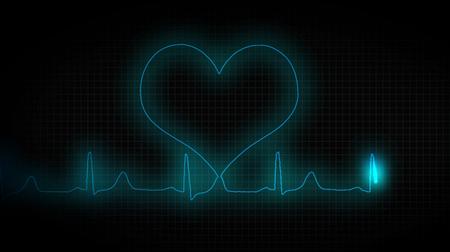 cardiograph: ECG heart healthy. Healthy lifestyle