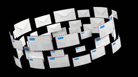 Emails. Letter mail with alpha channel. Delivery of correspondence worldwide.