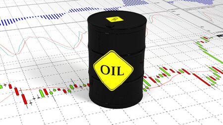 Barrel of oil in the stock market. Market Trades.