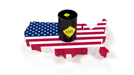 The fuel energy oil USA. Barrel of oil in the stock market. Market Trades. Stok Fotoğraf