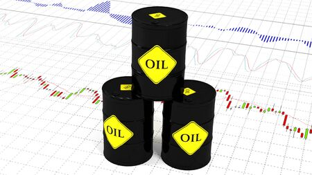 Barrels of oil on the stock market.