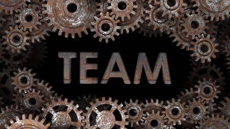 Well-coordinated team work. Successful team work. Stok Fotoğraf