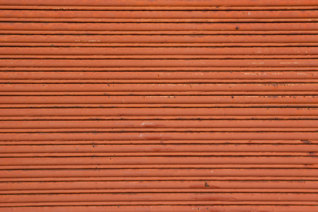 An old, rusty security roller door background.  Stock Photo - 1577494