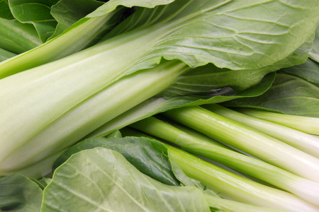 Some organic, fresh green leafy asian vegetables. Stock Photo - 1577493