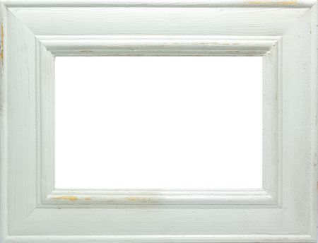 A rustic distressed picture frame. Stock Photo