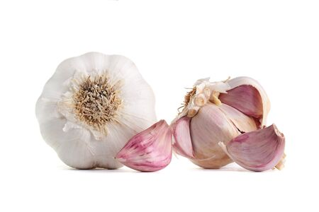 Fresh garlic, isolated on a white background. photo