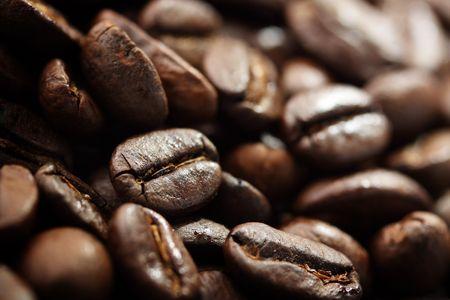 Freshly roasted Arabica coffee beans. Stock Photo