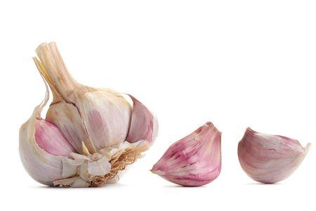 Fresh garlic, isolated on a white background. photo