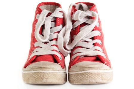 Un viejo par de botas desgastadas retro.