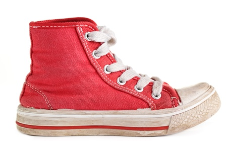 Un viejo par de zapatos desgastados retro. Foto de archivo
