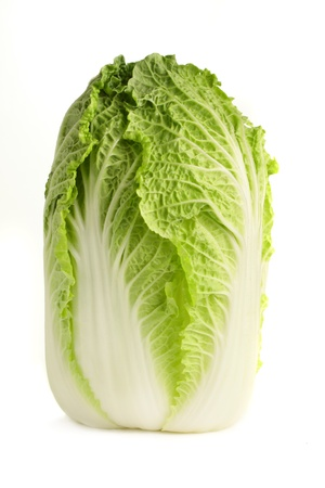 A fresh, organic chinese cabbage, isolated on a white background.