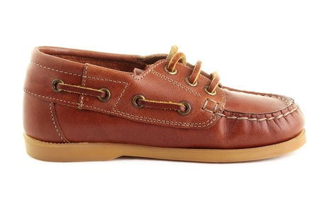rubber sole: A single boat shoe or top-sider, isolated on a white background.