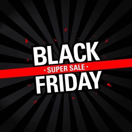 banner sconto vendita venerdì nero. concetto di design del modello di vendita venerdì nero. modello di progettazione banner per social media.