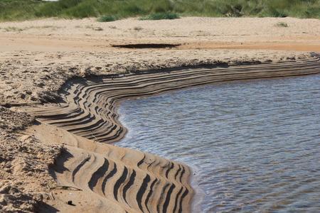 sandbank: Parallel lines on embleton Beach Sandbank