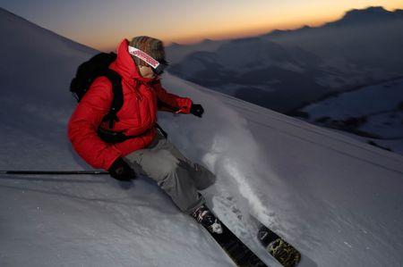 Extreme ski Stock Photo