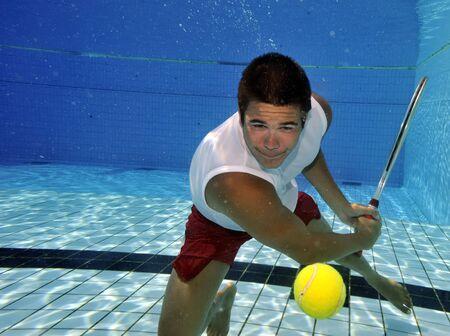 sportman: Underwater tennis