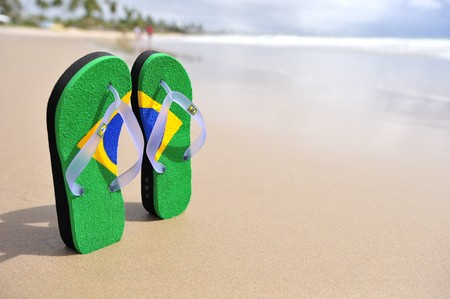 flipflop: Brazilian flipflop in Brazil Stock Photo
