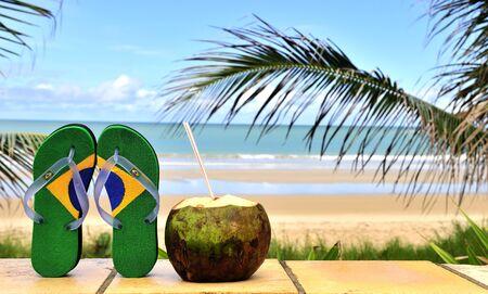 Brazilian flipflop in Brazil Stock Photo