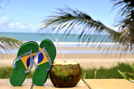 flop: Brazilian flipflop in Brazil Stock Photo
