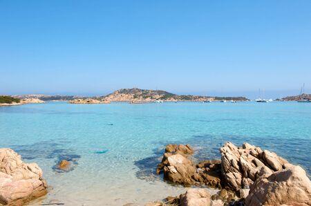 sardaigne: Paradise Beach Merveilleux en Maddalena, en Sardaigne, Italie