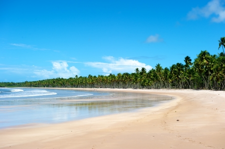 Paradise beach in Ilha do Boipeda, Morro de Sao Paulo, Bahia State, Brazil Stock Photo