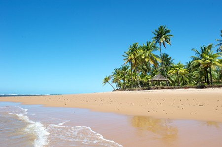 Paradise beach in the Marau Peninsula, Bahia State, Brazil Stock Photo - 7014450