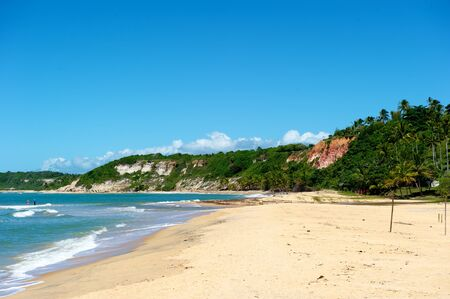 Paradise beach of Espelho in Arraial dAjuda, Bahia State, Brazil photo