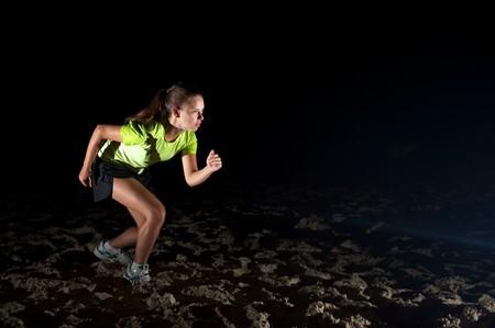 Woman doing exercises in Florianopolis, Santa Catarina, Brazil