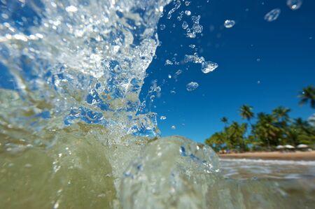 Paradise beach in the Marau Peninsula, Bahia State, Brazil