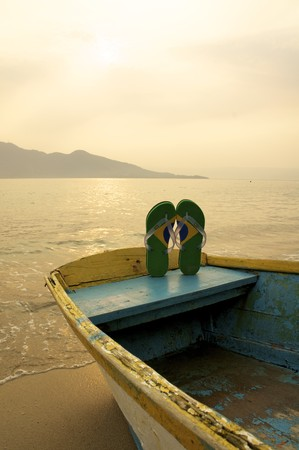 Brazilian Flipflop in Ilhabela, Brazil photo
