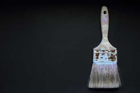 An old paint brush, off center to the right