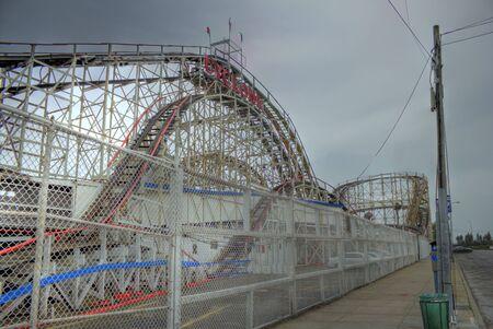 The cyclone rollercoaster in Coney Island, Brooklyn, NY
