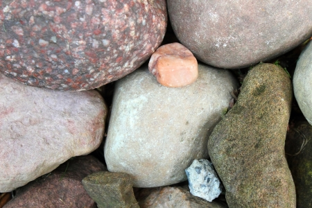varying: A group of varying types of stone Stock Photo