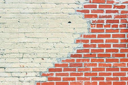 masonary: An old red brick wall  Can be used as a background