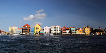 carribean: The colorful waterfront of Willemstad, the capitol of Curacao in the Dutch Carribean.