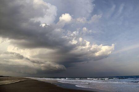 A thunderstorm rolls across a South Carolina beach. Reklamní fotografie