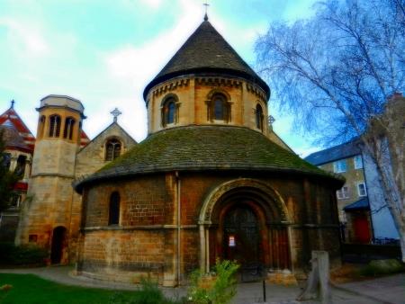 イギリスのケンブリッジでの円形教会 写真素材