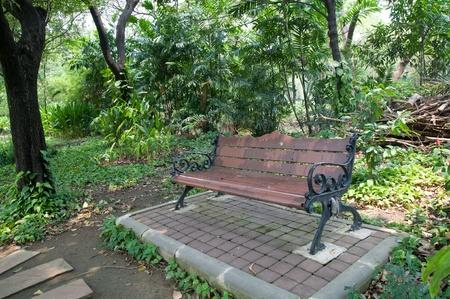 Outdoor chair in garden