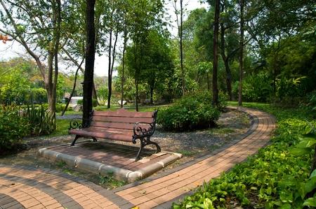 Outdoor chair in garden Editorial
